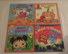 Scholastic Lot of 4 Childrens Books Blues Clues Clifford Halloween Ni Hao KaiLan