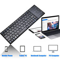 Wireless Slim Bluetooth   Keyboard With Touchpad For IOS Windows Android