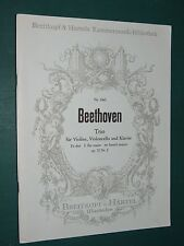 "Partitions Violon, violoncelle et acc. Piano ""Trio mi bém maj. op 70"" BEETHOVEN"
