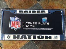 1 RAIDER NATION Oakland Raiders Chrome Metal Vehicle License Plate Frame