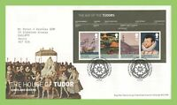G.B. 2009 House of Tudor m/s on Royal Mail First Day Cover Tallents House