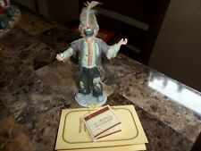 Rare Emmett Kelly Jr Miniature (Balancing Act) With The Feather #10006