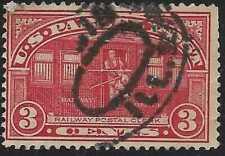 xsu170 Scott Q3 Us Parcel Post Stamp 1913 3c Railway Post Used