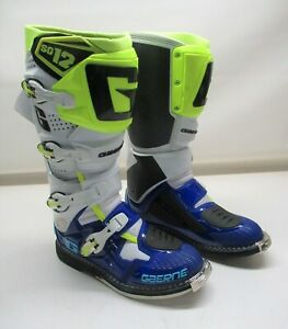 Gaerne White/Blue/Neon SG-12 Boots - 2174-050-010