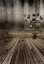 Retro Camera Vintage House Backdrop Wood Floor Background Studio Photo Prop 5x7