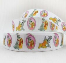 """BTY 1"""" Lady and the Tramp Grosgrain Ribbon Hair Bows Party Scrapbook Lisa"""