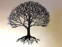 Steel Metal hand finished Tree of life wall art garden gift present many sizes