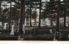 SALAMANCA, NY  New York     WILDWOOD CEMETARY    Tombstones   c1910's Postcard