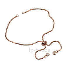 Top Silver Plated Box Chain Connector For Bracelet Bead Slider Adjustable Gold