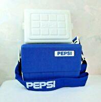 Vintage Pepsi Soda Cooler Locking Retro Soda Can Ice Box Beach Advertisement VTG