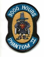 McDONNELL F-4 F-4G PHANTOM 3000 FLIGHT HOURS USAF TFS Fighter Squadron Patch