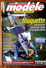 Modèle Mag n°629 du 2/2004; Plan encarté Gee Bee R2 simplifié pour 2,5cm3