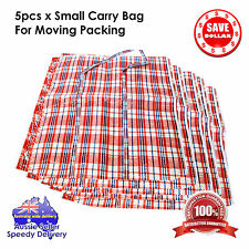 5pc X Large Nylon Strip Storage Bag Zipper Moving Packing Travel Carry 65x70