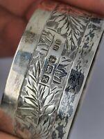Vintage Silver napkin ring Solid Silver Birmingham 1922 john rose.