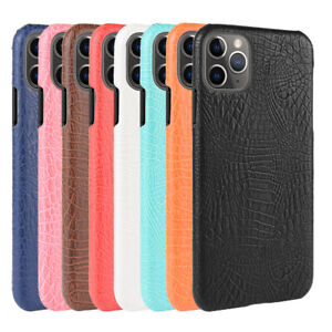 Croco Skin Lether Hard Back Case For iPhone 13 12 11 Pro Max XR XS X 8 7 + SE
