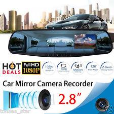 1080P 2.8 Rückspiegel LCD Auto Mirror Kamera Fahrzeug DVR Cam Recorder Dashboard
