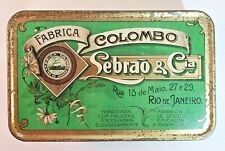 Antique Advertising Tin Candied Fruits Sebrao & Co. Rio de Janeiro 1921