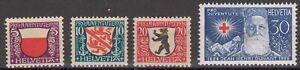 Switzerland - 1928 Pro Juventute, Arms & Jean Henri Dunant