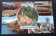 1981 POSTCARD: KESWICK ON DERWENTWATER: PLX21779: COLOUR: POSTED: MULTI SCENE