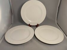 Set of 3 Villeroy & Boch Tipo White Dinner Plates