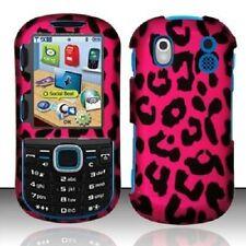 For Samsung Intensity 2 U460 Rubberized Design Hard Cover Case Pink Leopard