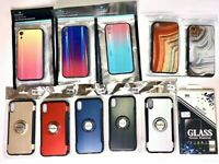 WHOLESALE LOT IPHONE XR FASHION CASES MARBLE IRIDESCENT RING CASE MIXED DESIGNS