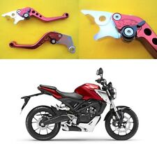 Honda CB 125 R Brake & Clutch Levers Adjustable Shorty Lever RED 2018 - UK STOCK