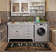 Non Slip Laundry Room Rug Runner Printed Waterproof Rubber Kitchen Floor