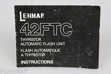 Lenmar 42FTC Flash Unit Instruction Manual ORIGINAL
