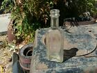 """Antique """"Furst McNess Co."""" Embossed Glass Medicine Bottle Apothecary Pharmacy"""