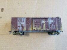 Roundhouse HO CB&Q Wood Braced Box Car #28541 (weathered)