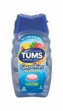TUMS Smoothies Antacid/Calcium Supplement, Assorted Fruit, 60 Each