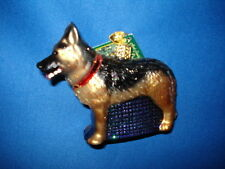 Dog Ornament Glass German Shepherd Old World Christmas 12212 6
