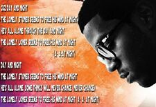 A3 Rapper Art Poster Kid Cudi Day and Night  Print