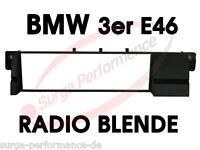 BMW 3er E46 Einbau Blende Radio Rahmen Autoradio Radioblende Adapter ISO DIN