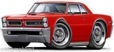 1965 Pontiac GTO 389 Tri-Power Turbo Fire Cartoon Car Wall Graphic Man Cave