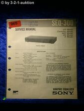 Sony Service Manual SEQ 300 Graphic Equalizer  (#0965)