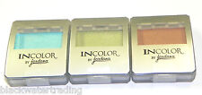 New Jordana INCOLOR Eyeshadow Lot of 3 Colors Kiwi-largo Toast & Caribbean Sea
