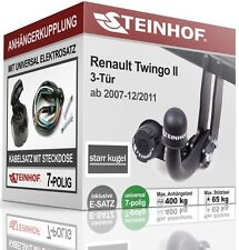 Anhängerkupplung starr RENAULT TWINGO II 3-Tür 2007-2011+E-SATZ 7 polig NEU TÜV