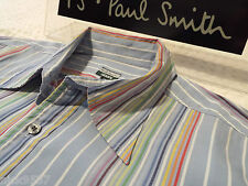 "PAUL SMITH Mens Shirt 🌍 Size XL (CHEST 44"") 🌎 RRP £95+ 📮 ICONIC MULTI STRIPES"