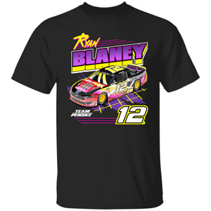 Men's Ryan Blaney #12 Nascar Cup Serise 2020 Black T-shirt S-4XL