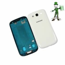 For Samsung i9300 Galaxy S3 S III Blue Full Housing Cover Case Unit Set ( White)