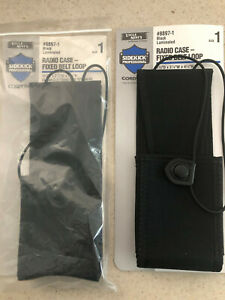 UNCLE MIKE'S 8897-1 BLACK LAMINATED RADIO CASE FIXED BELT LOOP LOT OF 2 SIZE 1
