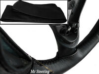 FOR VAUXHALL / OPEL VECTRA C 2002-2008 REAL BLACK LEATHER STEERING WHEEL COVER