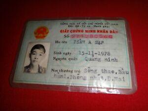 Socialist Republic Of Vietnam MALE ID Card - Issued Year 1993 Vintage
