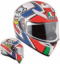 CASCO MOTO INTEGRALE AGV K3 SV PINLOCK GRAFICA MARINI DOPPIA VISIERA TG ML 57/58
