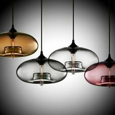 Transparent Glass Pendant Lights Inside Incandescent Bulbs Stick Multi-Color New