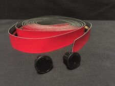 New Red 2.5mm Carbon Fiber Comfort Road Bike Tape Handlebar Bar Plug Track Fixed
