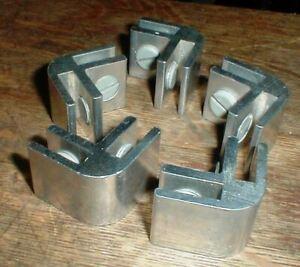 Lot-5 Metal Glass Shelf Rack-Table End Corner  BRACKETS