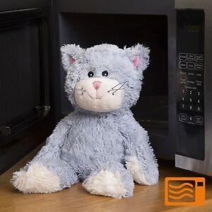 Warmies Plush Blue Cat - cuddle, warming, microwaveable, soft toy, lavender, soo